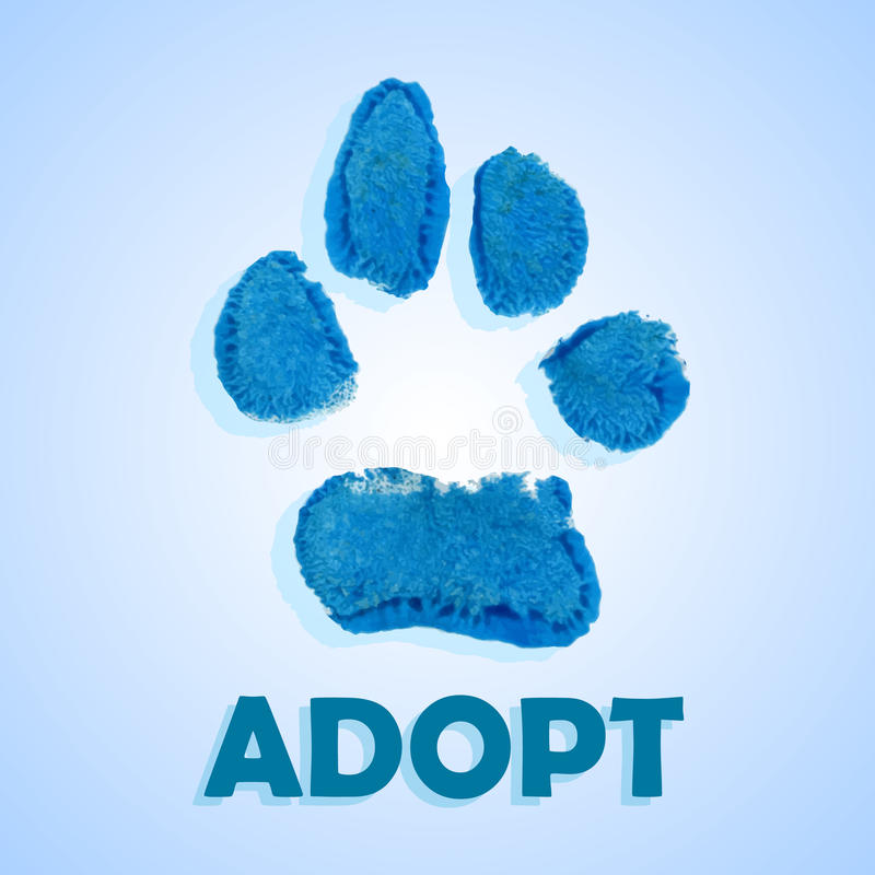 Dog adopt royalty free illustration