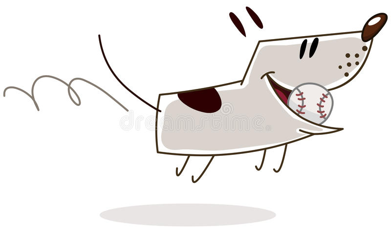 Dog with ball royalty free illustration