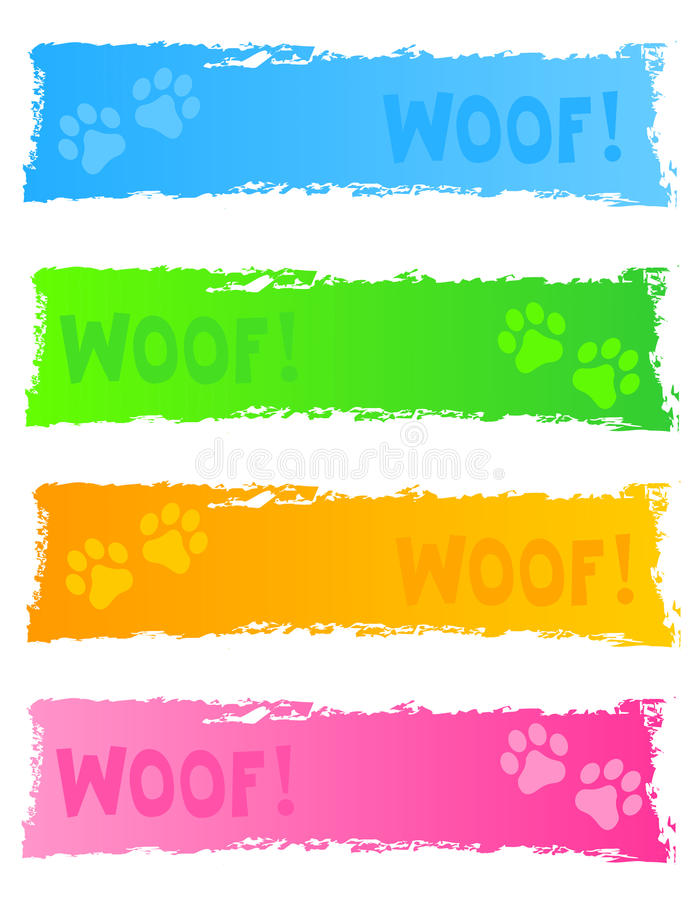 Download Dog banner / header stock vector. Image of design, icons - 21617350