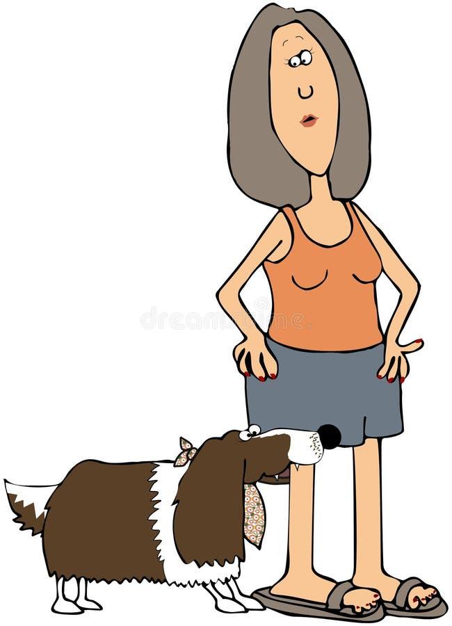 Download Dog Biting Girl stock illustration. Illustration of illustration - 14396613