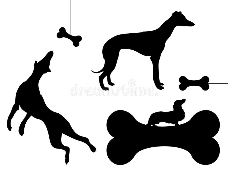 Download Dog and a bone stock vector. Illustration of game, bone - 19203168