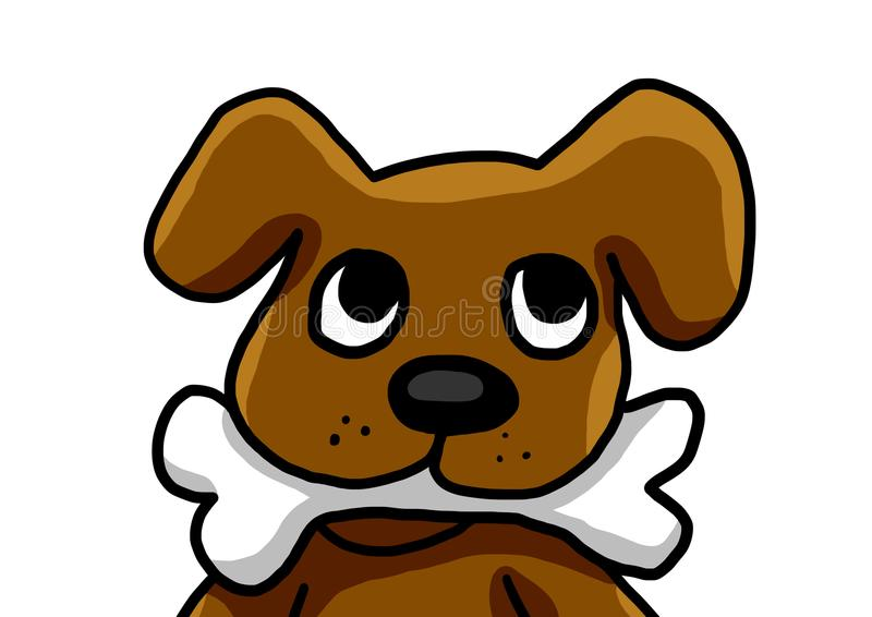 Dog With A Bone. Digital illustration of a dog vector illustration