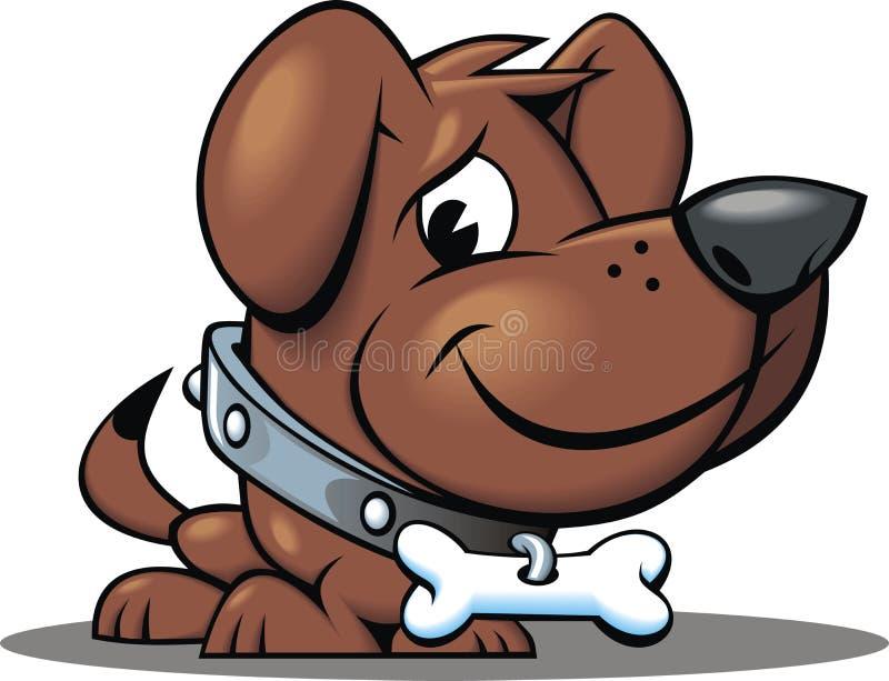 Dog with bone. Isolated on white background vector illustration