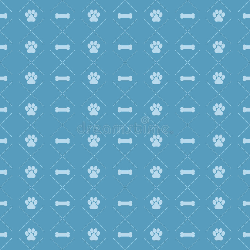 Dog And Bone Pattern EPS. A seamless dog paw and bone background pattern. Available in vector EPS format
