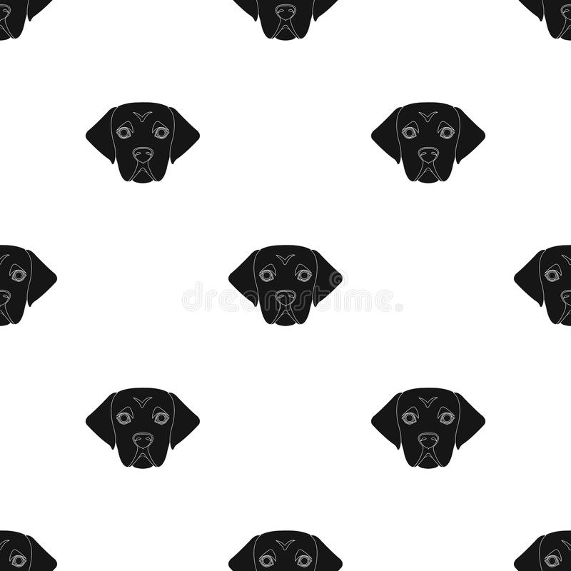 The dog breed is a labrador.Muzzle Labrador Retriever single icon in black style vector symbol stock illustration web. The dog breed is a labrador.Muzzle stock illustration