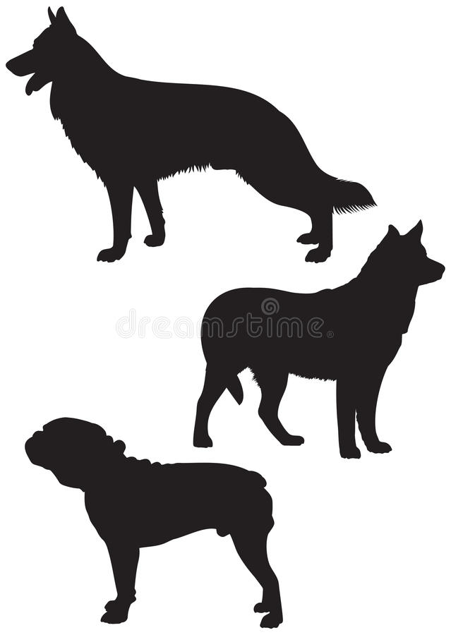 Download Dog Breeds Vector Silhouettes 2 Stock Vector - Image: 31224508
