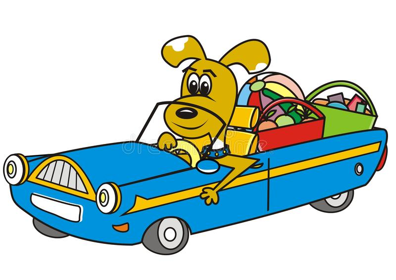 Download Dog in car stock vector. Image of animal, image, drives - 41452014
