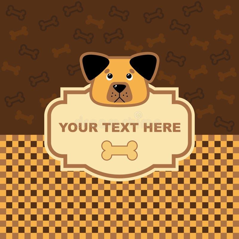 Dog Card Stock Image