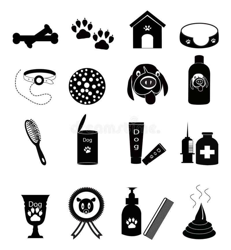 Dog Care Icons vector illustration