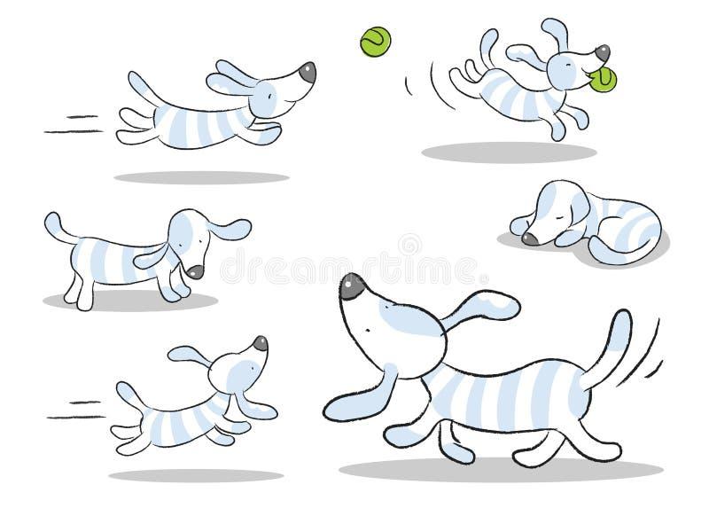 Download Dog cartoon stock vector. Image of cheerful, jumping - 18284948