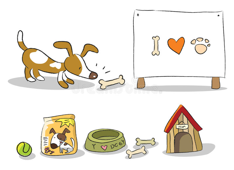 Download Dog cartoon stock vector. Illustration of isolated, collection - 18284966