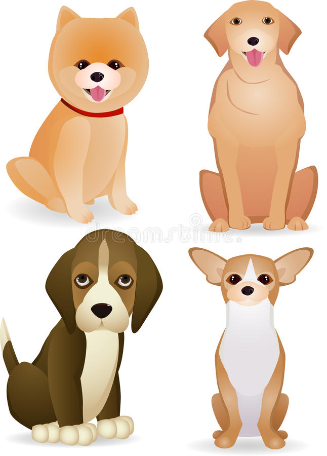 Download Dog cartoon collection stock vector. Image of chihuahua - 22886894
