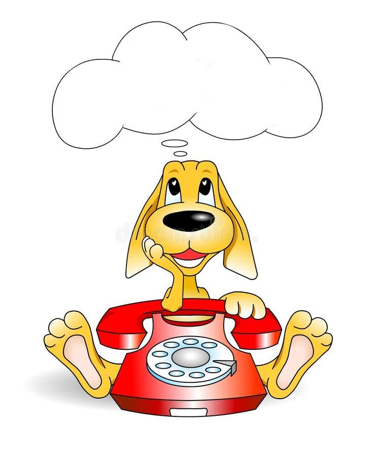 Download Dog cartoon dreaming stock illustration. Image of cartoon - 16817127