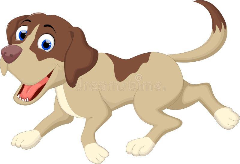 Dog cartoon running. Illustration of dog cartoon running vector illustration