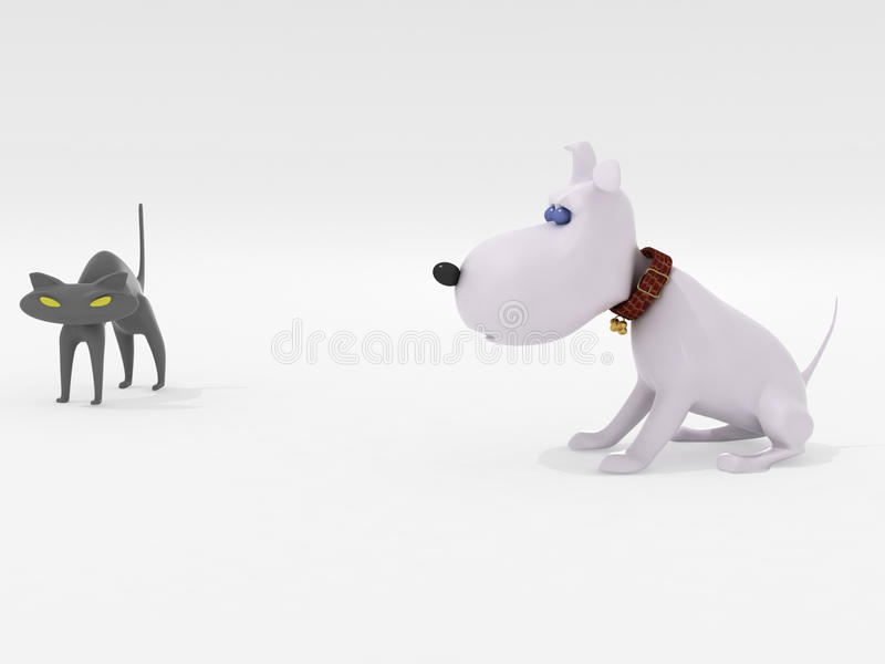Download Dog and cat stock illustration. Image of sitting, pets - 10564139