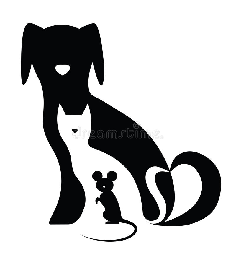 Free Dog Cat And Mouse Royalty Free Stock Photography - 38240627