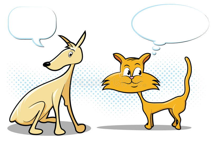 Download Dog and Cat Cartoon stock vector. Image of cool, burst - 23591371