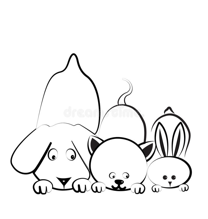 Download Dog, cat and rabbit logo stock vector. Image of graphics - 29699493