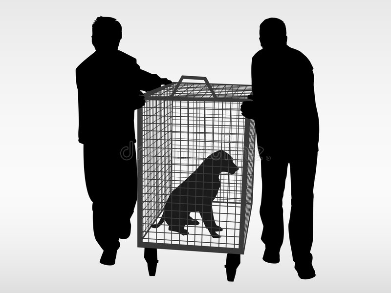 The dog catchers. Help the animals. Adopt a pet from the animal shelter. The EPS file contains 6 layers. You can show or hide the layers you want. Split into stock illustration