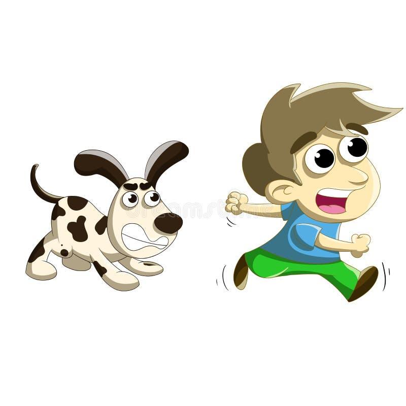 Dog chase stock illustration