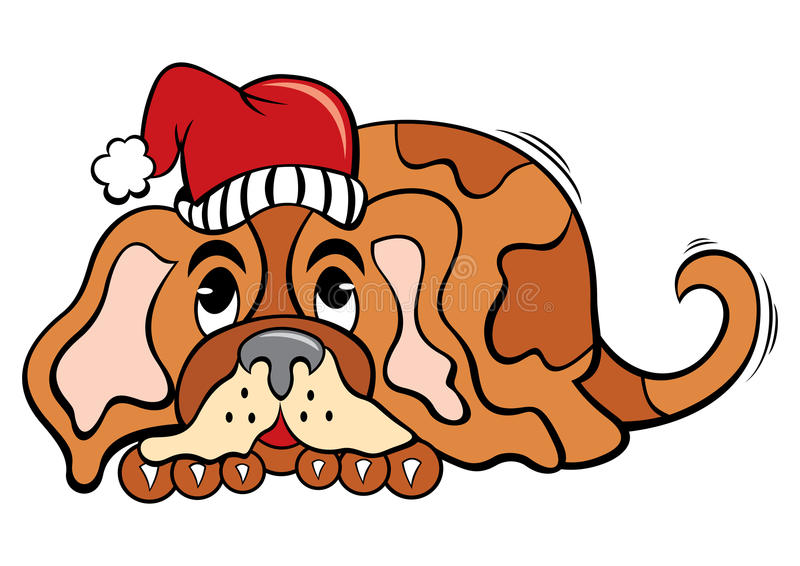 Download Dog In Christmas Time Stock Image - Image: 27552851