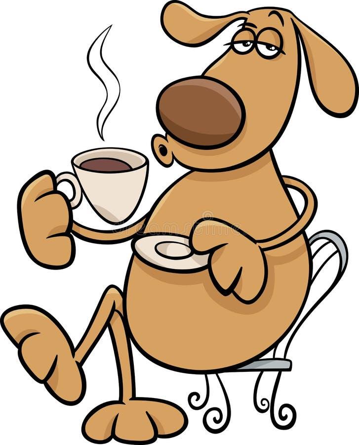 Dog With Coffeel Cartoon Illustration Stock Vector ...
