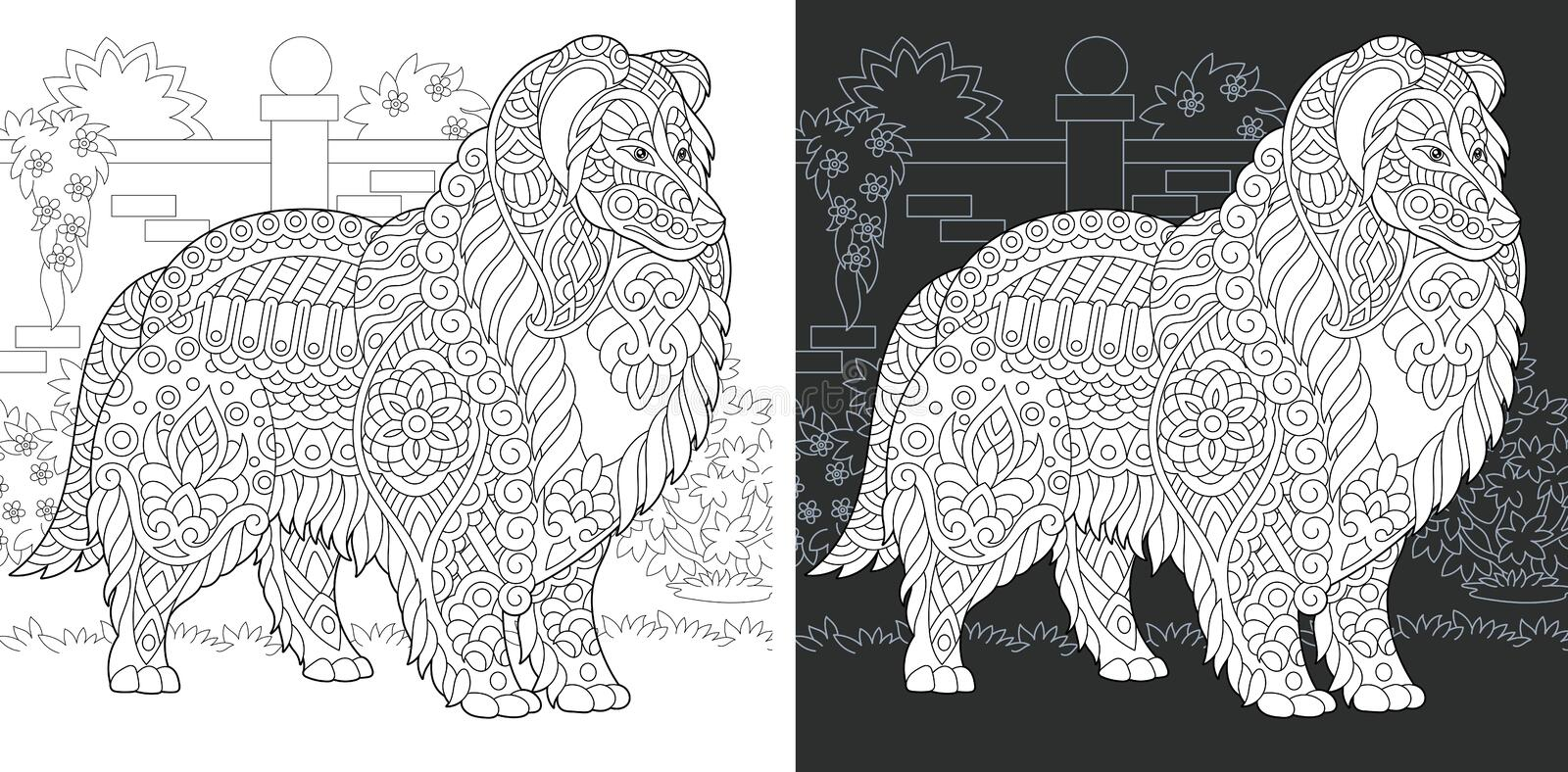 Dog Coloring Page stock photography