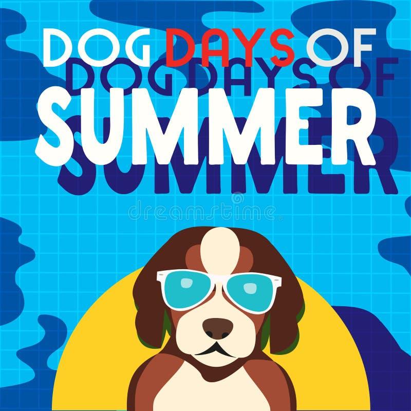 Cartoon Dog Swimming Stock Illustrations