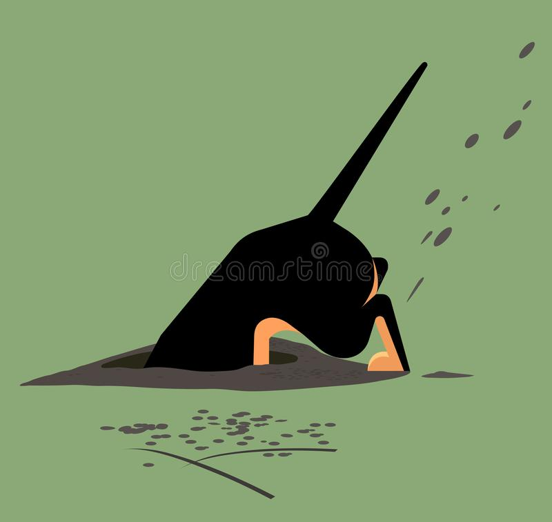 Free Dog Digs A Hole Stock Images - 164154014