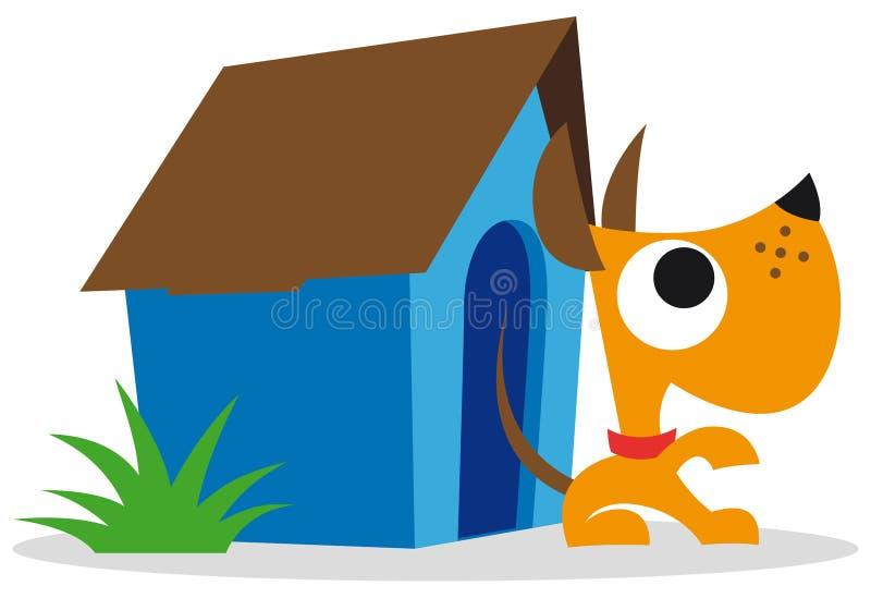 Dog and dog house vector illustration