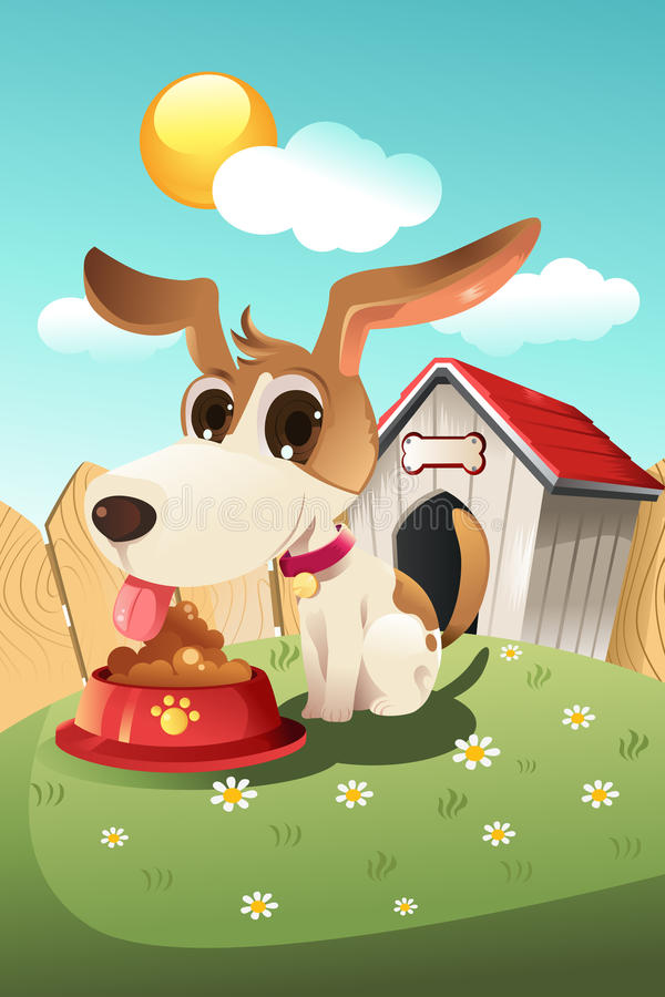 Dog In Doghouse Royalty Free Stock Images