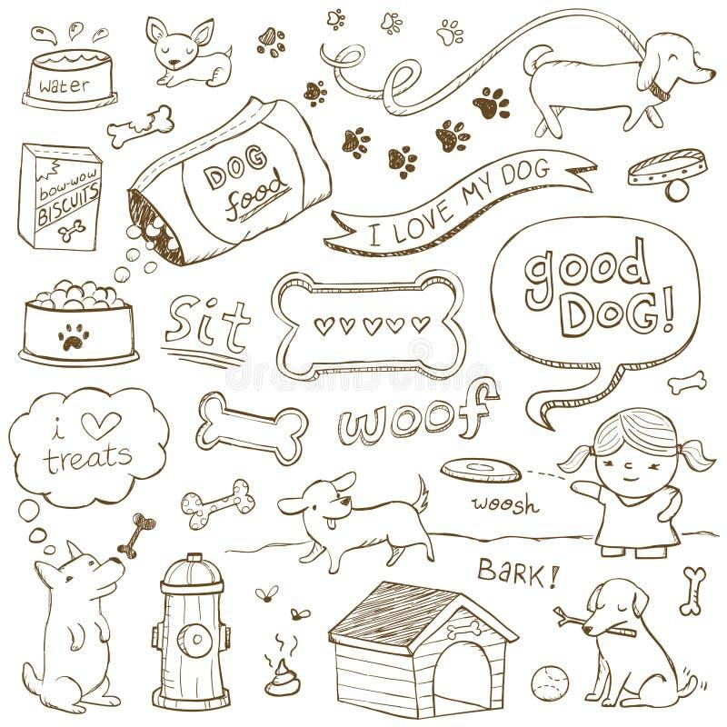 Dog Doodles vector illustration