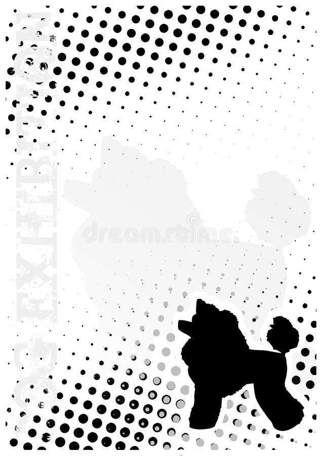 Dog Dots Poster Background Royalty Free Stock Photo
