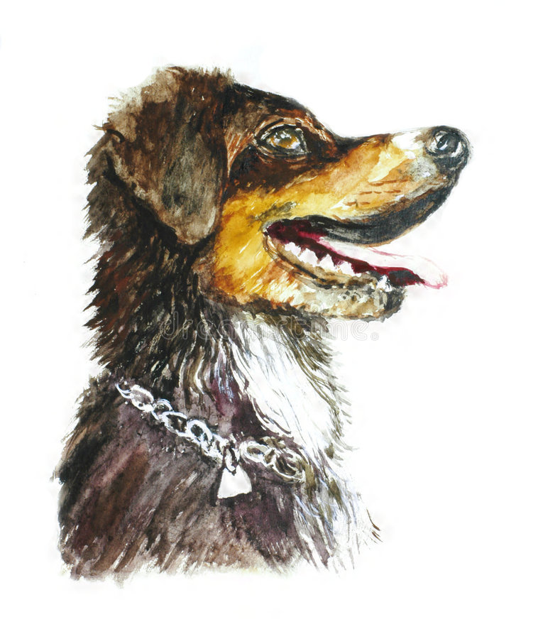 Download Dog draw by me stock illustration. Image of mutt, nature - 1222374