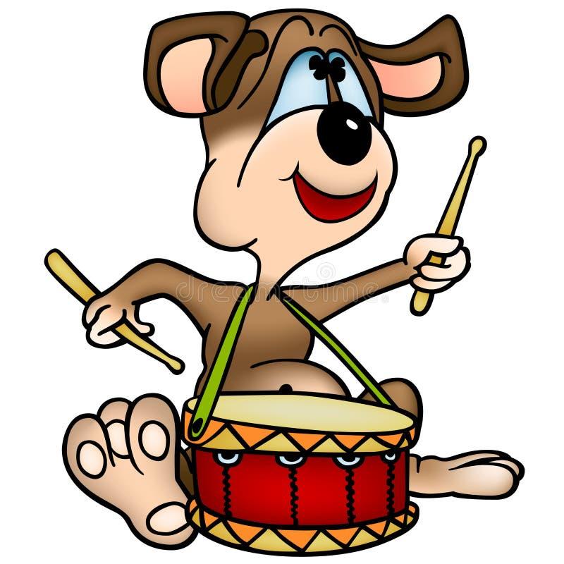 Download Dog  Drummer stock vector. Illustration of animal, puppy - 24062072