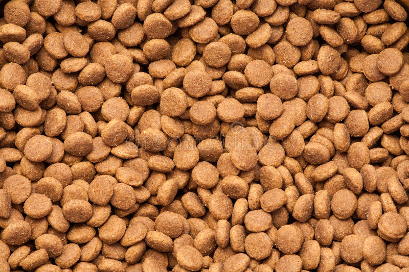 Dog dry food. Dog dry food texture background stock photos