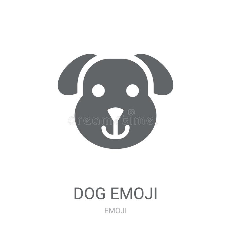 Dog emoji icon. Trendy Dog emoji logo concept on white background from Emoji collection. Suitable for use on web apps, mobile apps and print media royalty free illustration