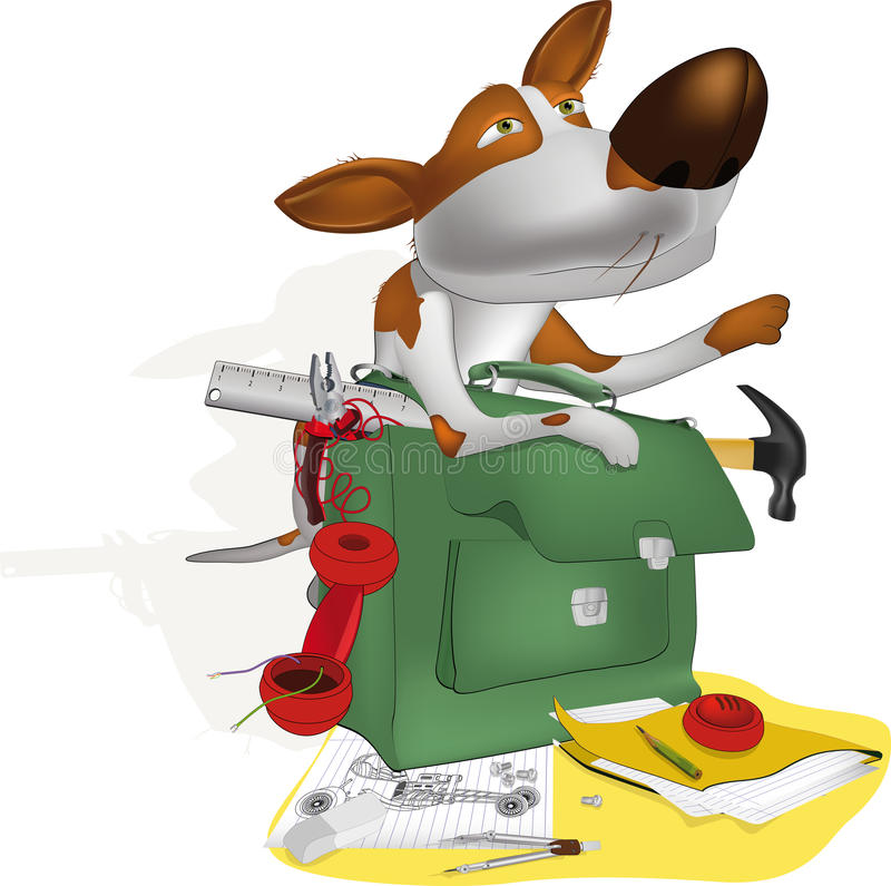 Dog The Engineer Royalty Free Stock Images