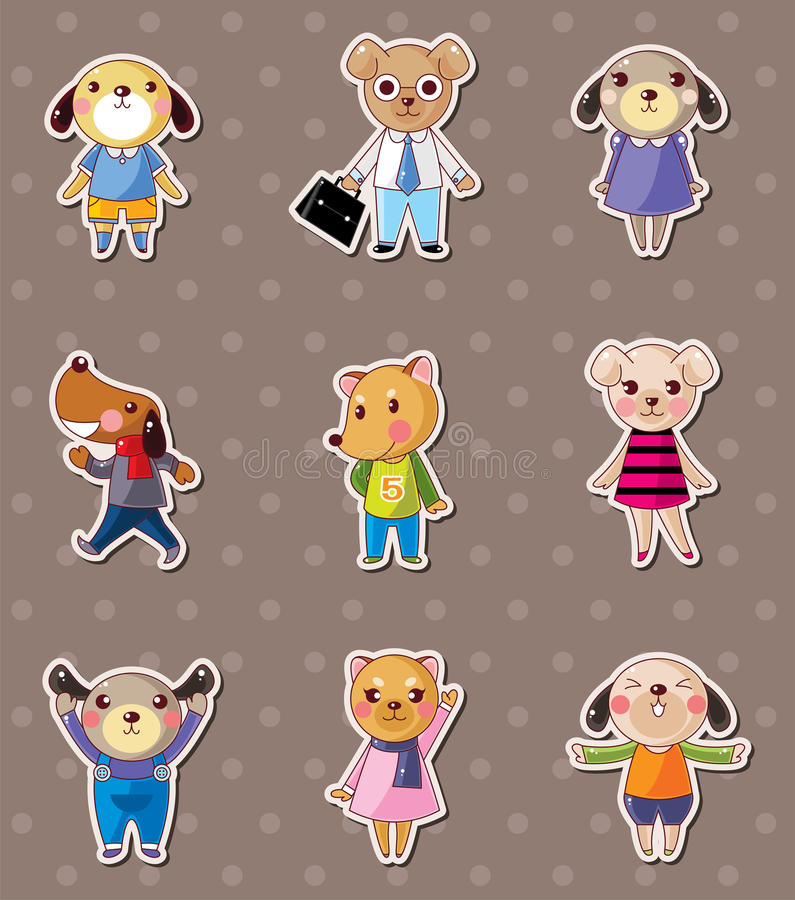 Download Dog family stickers stock vector. Image of collection - 24617213