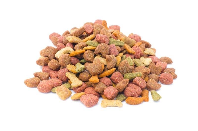 Dog food. On white background royalty free stock photo