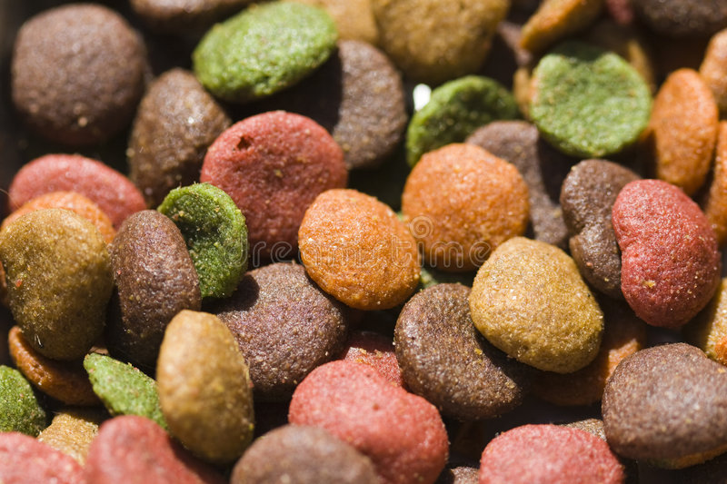 Dog food detail stock photography