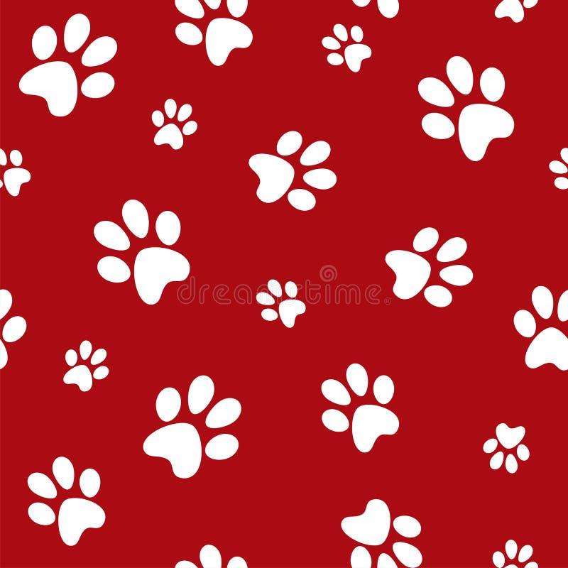 Dog footprints vector illustration