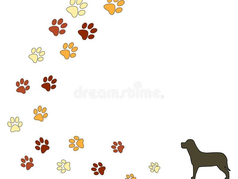 Dog Footsteps Stock Image