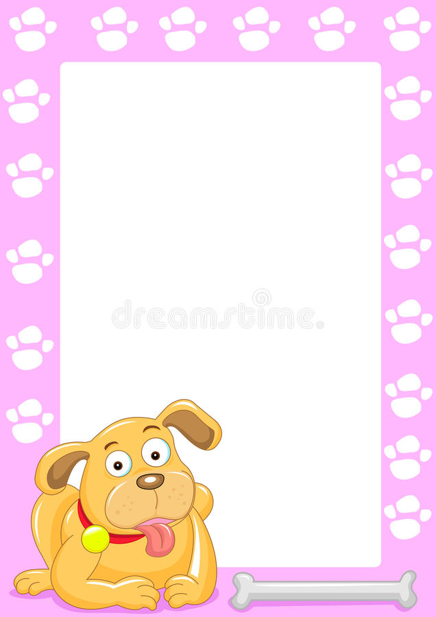 Download Dog frame stock vector. Image of cheerful, present, mammal - 16431529