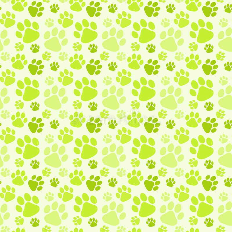 Free Dog Green Footprints Seamless Pattern Stock Image - 96804341