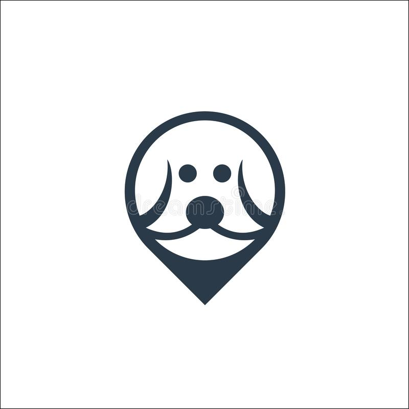 Dog head icon . logo Vector template stock illustration