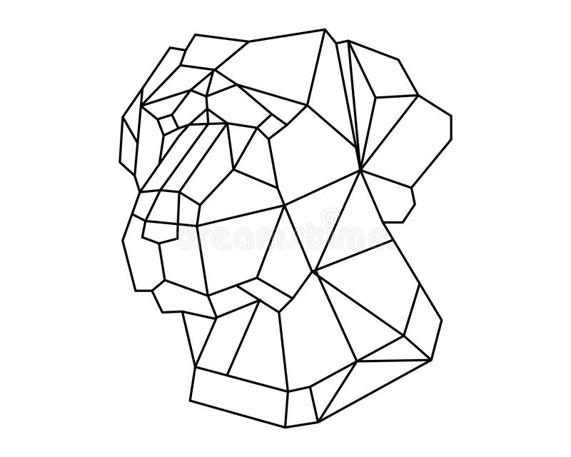 Dog head polygon royalty free stock image
