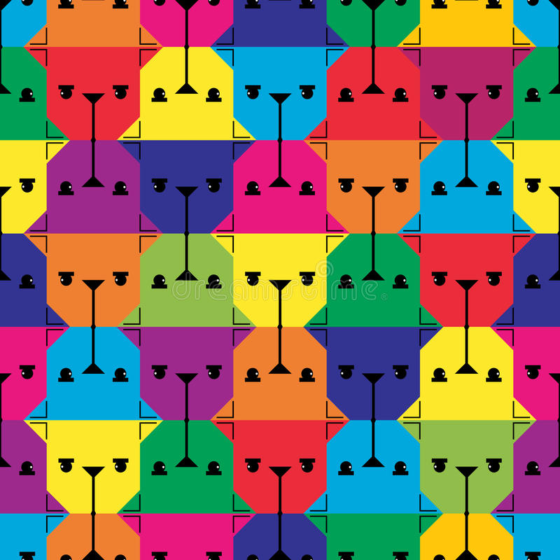 Dog Head Seamless Pattern. Royalty Free Stock Image