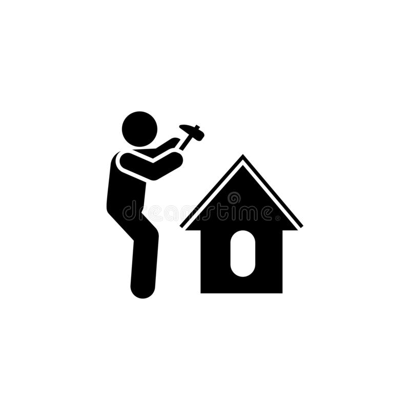 Dog, home, man icon. Element of gardening icon. Premium quality graphic design icon. Signs and symbols collection icon for. Websites, web design, mobile app on royalty free illustration