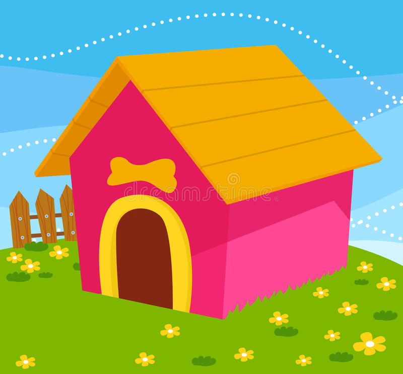 Download Dog house stock vector. Image of flower, house, blue - 24737725